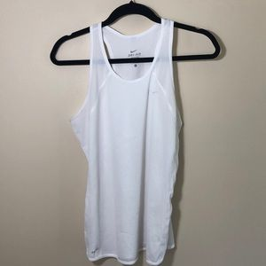 LN excellent NIKE Dry Fit white tank top size Lg